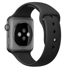 Ремешок 42mm Black Sport Band with Space Black Pin для Apple WATCH