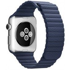 Ремешок 42mm Midnight Blue Leather Loop - L для Apple WATCH
